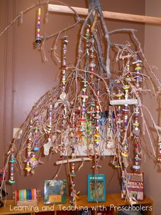 Chandelier made in preschool - Learning and Teaching with Preschoolers ≈≈