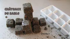 Châteaux de sable - Activités pour enfants - Gribouille Cubes, Breakfast, Desserts, Food, Sensory Activities, Children, Morning Coffee, Tailgate Desserts, Deserts
