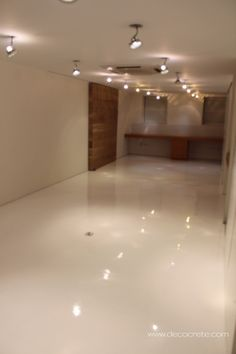 Jersey City - White Seamless Epoxy Flooring.  Repin & Click For More Info or Quote @ Your Home / Business.