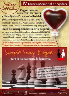 """Colaboración por una buena causa """"IV Torneo Memorial de Ajedrez"""", la recaudación será para """"Pyfano, niños con cáncer"""""""