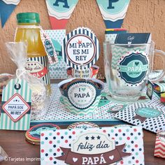 Dad Birthday Craft, Ideas Día Del Padre, Tray Decor, Cute Food, Cool Diy, Fathers Day Gifts, Anniversary Gifts, Party Time, Diy And Crafts