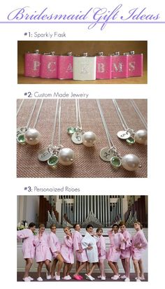 ask mrs. laurie to make custom jewelry for the bridal party and moms