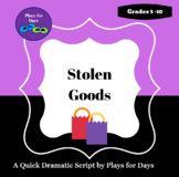 Stolen Goods - A quick script by Plays for Days Drama Teacher, Teacher Pay Teachers, Short Scripts, Teacher Newsletter, Rubrics, Betrayal, Elementary Schools, Forgiveness, Plays