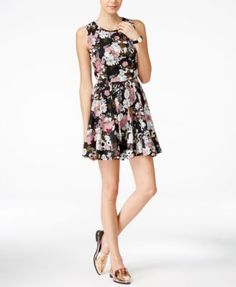Maison Jules Meadow Floral-Print Fit & Flare Dress, Only at Macy's | macys.com