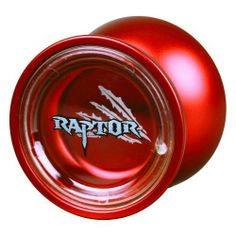 "Duncan Raptor Deluxe Aluminum Yo-Yo DTC3571XP by Duncan Toys. $31.49. Made from aircraft grade aluminum with a weight: 66 grams;. Width: 39.6mm and Diameter: 54mm. Do not purchase this yoyo if you do not know how to perform a ""bind"".. Bearing: C (.250 x .500 x .187). Silicone Response System. The Duncan Raptor Yo-Yo is a great new metal yo-yo designed for intermediate players ready to move to the next level, or advanced players looking for a new throw.The Rapto..."