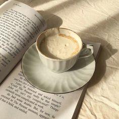 Tea Coffee and Books Coffee And Books, Coffee Love, Coffee Break, Coffee Shop, Coffee Cups, Tea Cups, Morning Coffee, Cream Aesthetic, Aesthetic Food