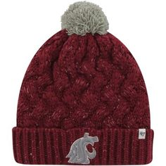 Washington State Cougars '47 Brand Womens Fiona Cuff Knit Beanie – Crimson