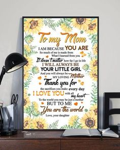 Gift For Mom – Family Love Gifts Great Gifts For Wife, Mothers Day Gifts From Daughter, Perfect Gift For Mom, Love Gifts, Gifts For Father, Mother Gifts, I Love Mom, My Mom, How Far I Go