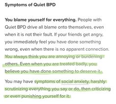 Mental Health Facts, Mental Health Illnesses, Mental Health Therapy, Mental And Emotional Health, Mental Health Awareness, Mental Illness, Boderline Personality Disorder, Borderline Personality Disorder Quotes, Bpd Quotes