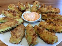 These unbelievably crispy, fat zucchini wedges are from Chrissy Teigen's Cravings cookbook and they are so good! They remind me of zoo sticks from White Spot (every native British Columbians…