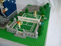 Custom Lego tennis court