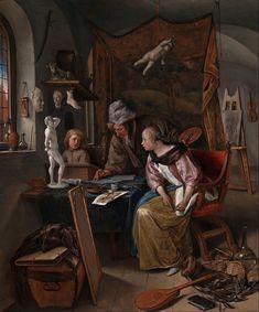 Jan Steen (Dutch) - The Drawing Lesson - Google Art Project - Jan Steen - Wikipedia, the free encyclopedia