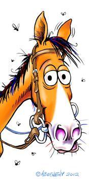 Рисунок смешная лошадь