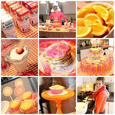 Tangerine Tango inspired Party Color Schemes - Lemon Drop Shop