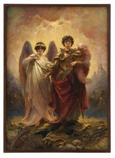 "Albert Maignan: ""La apoteósis de juana de arco"" 1865"