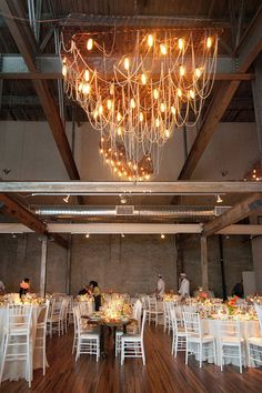 #chandeliers Photography by wrenandfield.com Floral Design by fallsflowers.com  Read more - http://www.stylemepretty.com/2013/07/22/philadelphia-wedding-from-wren-field-photography/