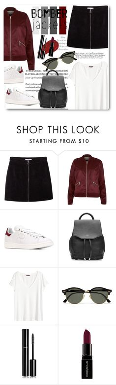 """Burgundy"" by tauriel25 ❤ liked on Polyvore featuring MANGO, River Island, Whiteley, adidas, rag & bone, H&M, Urban Decay, Ray-Ban, Chanel and Smashbox"