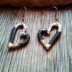 Heart Wire Wrapped Earrings
