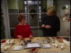 Lucy on Martha Stewart's Christmas Special 2002  Learn to make cotton ornaments!
