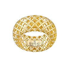 Spectacular Gucci Diamantissima ct Yellow Gold Ring