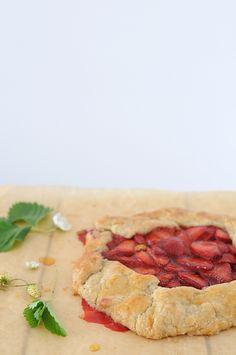 Strawberry honey galette