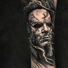 Evil Skull Tattoo, Evil Tattoos, Creepy Tattoos, Badass Tattoos, Tatoos, Family Tattoo Designs, Unique Tattoo Designs, Tattoo Design Drawings, Tattoo Sketches