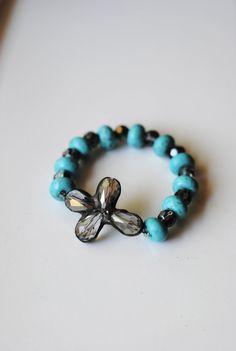 Soldered Smoke Cross Crystal Bracelet by artifexinme on Etsy, $58.00