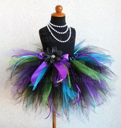 pics of blue tutus | Birthday Tutu Black Blue Purple Green Custom Sewn by TiarasTutus