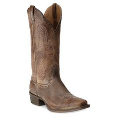 Ariat Women's Antique Good Times Cowgirl Boot Square Toe Antq Brown 7.5 M US