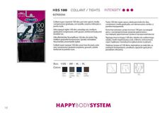 Set 3 Paia Collant 100 Denari Coprente Happy Body System POMPEA MASSAGGIANTE DD
