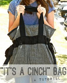 Cinch tote bag and bonus how to add a lining to a tote
