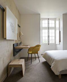 Fontevraud Hotel in the Loire Valley designed by Patrick Jouin