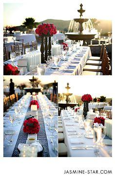 Chic Wedding Table Settings at Hummingbird Nest Ranch