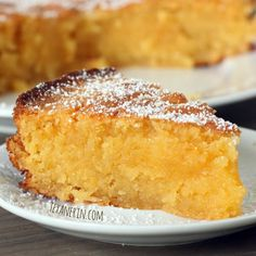 Grain-free Italian Lemon Almond Cake (aka Torta Caprese Bianca) - an option when I need to make gluten free sweets (uses almond flour) Lemon Desserts, Just Desserts, Delicious Desserts, Dessert Recipes, Paleo Cake Recipes, Italian Desserts, Frosting Recipes, Baking Recipes, Gluten Free Sweets