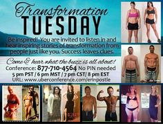 ☆Transformation Tuesday☆ Curious about what we do? Do you want to amplify your athletic performance? Reduce your body fat? Increase your energy?  Join me and some of our amazing teammates and hear how they've transformed their bodies, health and lives. Incredible stories from young people, athletes and more!!  8pm EST tonight, call in 1-877-710-4564  --> www.jsmalltri.isagenix.com Small Changes, Transformation Tuesday, You Are Invited, Young People, Like You, The Incredibles, Isagenix, Athletes, Health
