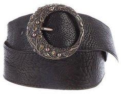 UGO Cacciatori Sterling Silver Leather Belt