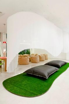 The Coworking Space, Talent Garden - relax, bean bags Coworking and Collaboration happens in really diverse places and spaces. all over the world. If you would lke #coworking space in San Francisco or Santa Rosa at SpherePad.co