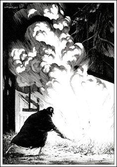 Berni Wrightson illustrations for Frankenstein by Mary Wollstonecraft Shelley Bernie Wrightson's edition of Frankenstein was fir. Frankenstein, Ink Illustrations, Illustration Art, Comic Books Art, Comic Art, Bernie Wrightson, Bd Comics, Arte Horror, Art Graphique