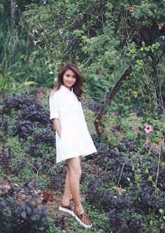 Filipina Actress, Cant Help Falling In Love, Kathryn Bernardo, Jadine, Off Duty, White Dress, Actresses, Queen, Mom