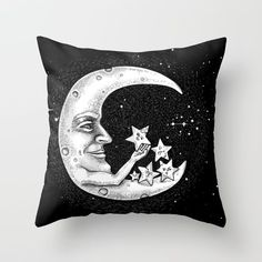 the Moon - Star doctor Throw Pillow by Lsalis. Worldwide shipping available at Society6.com. Just one of millions of high quality products available.