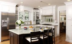 White Kitchen with Soft Green Accents