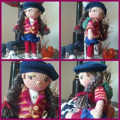 """Penelope Here is a little lesson on how you can take a pattern and make it your own. This doll was made using """"components"""" of the Lily Sugar n Cream doll pattern."""