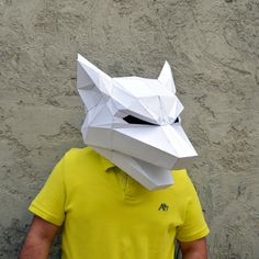 Make Your Own Wolf Mask.   wolf mask   forest animal   papercraft   Halloween mask   animal mask   Paper Animal