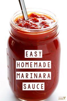 Homemade Marinara Sauce -- delicious marinara is so easy to make with simple, fresh ingredients! | gimmesomeoven.com #italian