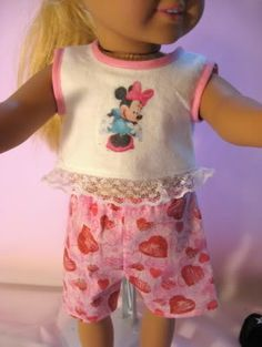 "free shirt, shorts, pants, skirt and purse patterns for 18"" dolls"