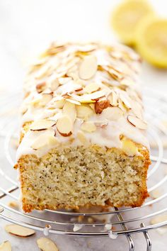 Lemon Almond Poppyseed Quick Bread - Perfectly moist and comes together quickly and easily.