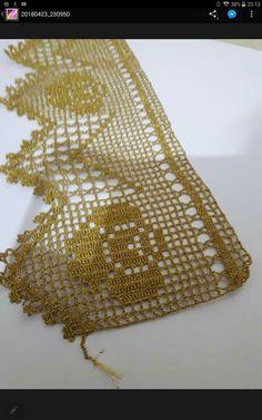 Crochet and Knitting Crochet Baby Dress Pattern, Crochet Edging Patterns, Filet Crochet Charts, Crochet Lace Edging, Crochet Borders, Hand Crochet, Crochet Stitches, Pineapple Crochet, Sweater Knitting Patterns