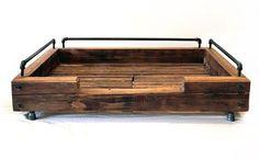 Custom Reclaimed Wood Dog Beds from Olga Guanabara - Dog Milk