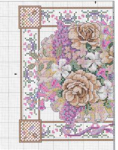 Cross-stitch Victorian Roses, part 1... color chart on part 2...    Solo Patrones Punto Cruz | Aprender manualidades es facilisimo.com
