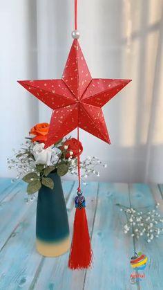 Diy Crafts Hacks, Diy Crafts For Gifts, Diy Home Crafts, Crafts For Kids, Instruções Origami, Paper Crafts Origami, Diy Paper, Christmas Crafts, Christmas Decorations